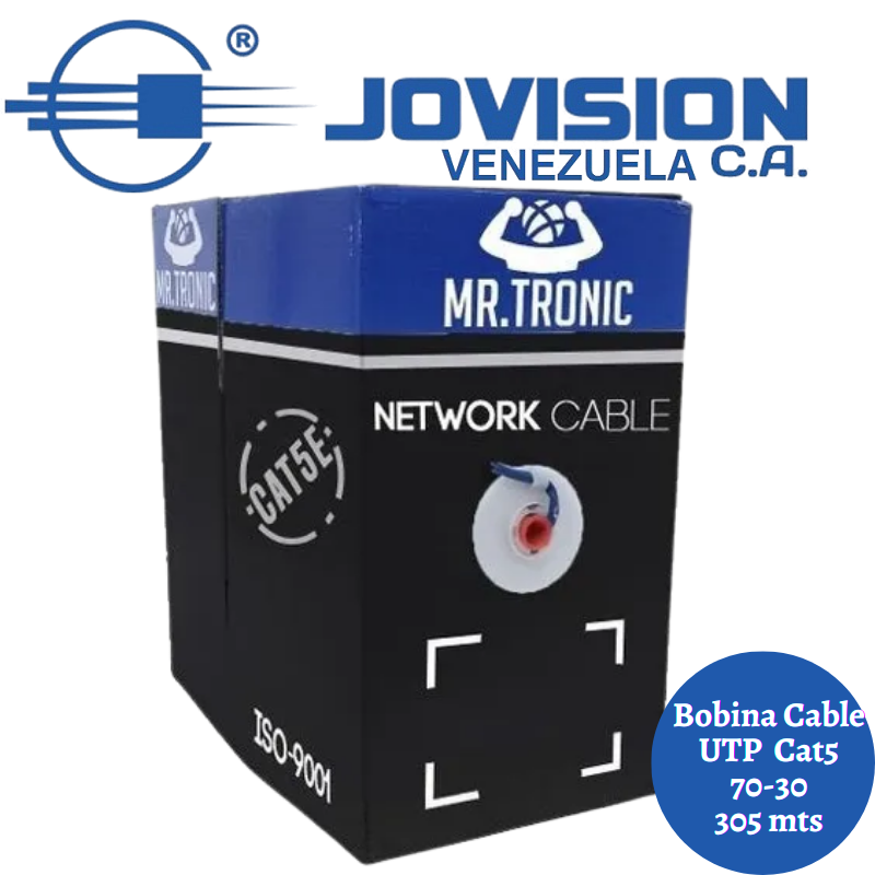 Cable Utp Mr. Tronic Cat 5e 305 Mts. Uso Redes-Cctv