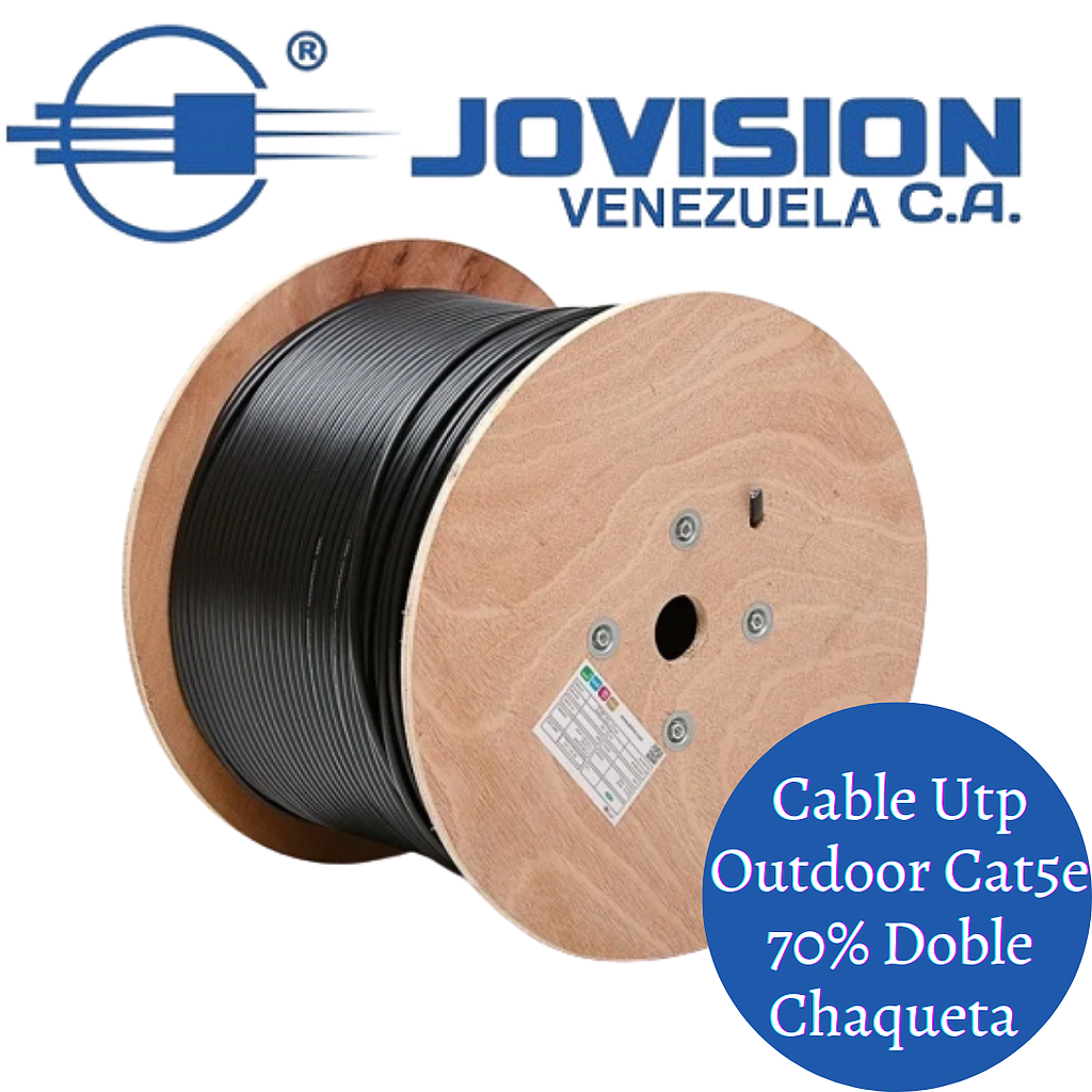 Cable UTP Outdoor Cat 5 70/30 305 mts Exteriores