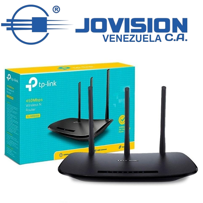 Router Tp-link Tl-wr940n Rompe Muros 450mbps Pc Lan Red Wifi